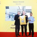 Markus Schultz (centre), Branch Manager ViscoTec China, at the SMT China VISION Award ceremony