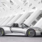 Seitenansicht des Porsche Spyder 918. (Quelle: Porsche)
