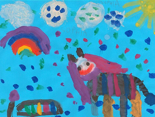 """Bild """"Pferd"""" preeflow Aktion WeltKinderLachen"""