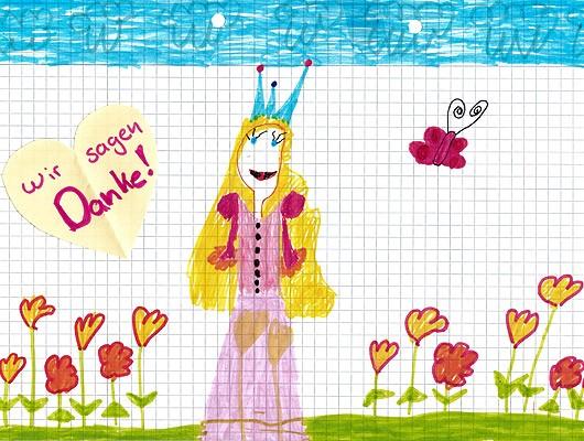 """Bild """"Danke"""" Prinzessin preeflow Aktion WeltKinderLachen"""