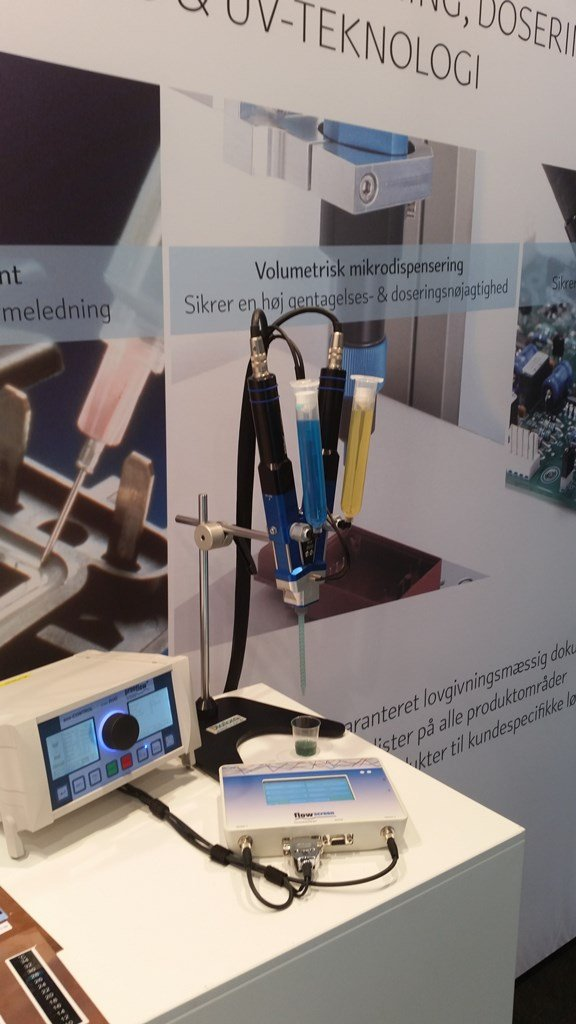 Diatom Messestand in Dänemark stellt preeflow-Dispenser aus
