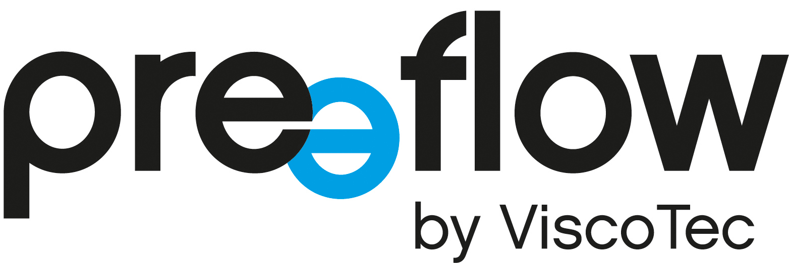 The new preeflow logo - microdispensing in perfection.