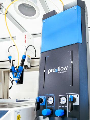 preeflow eco-FEED : un système pneumatique de vidange de cartouches entièrement automatisé.