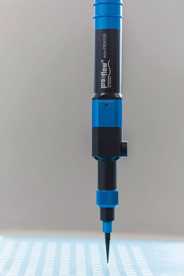 Mikrodosierung: preeflow eco-PEN330 in einer Anwendung