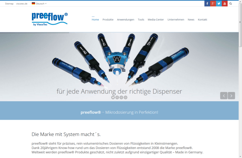 preeflow Website